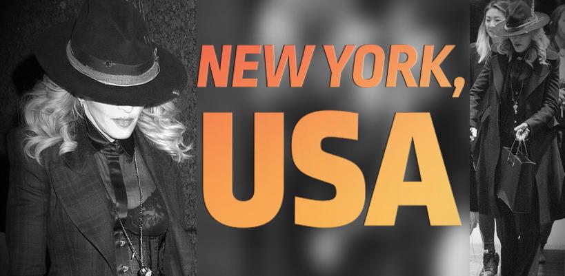 Madonna dans les rues de New York [24 Janvier 2015 - Photos]