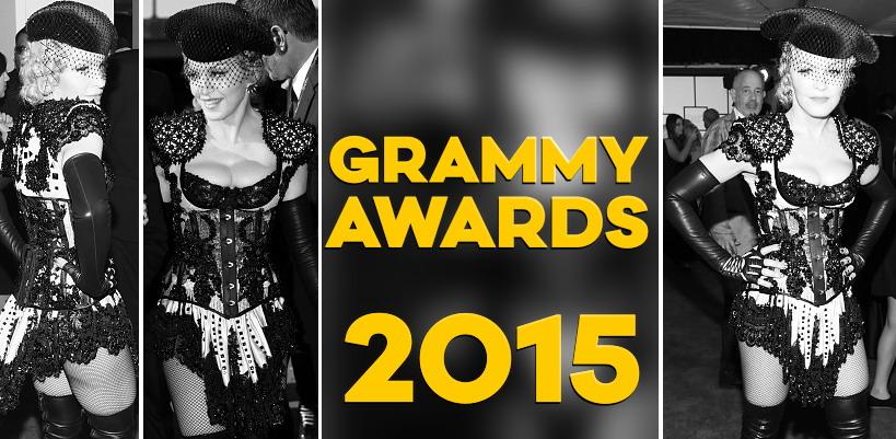 Madonna assiste aux Grammy Awards 2015 [8 février 2015 – Photos & Vidéos]