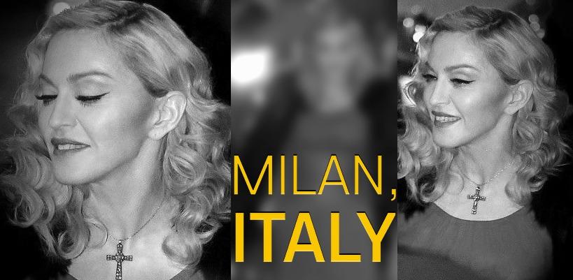 Madonna à l'enregistrement de Che Tempo Che Fa à Milan [1 Mars 2015 – Photos]