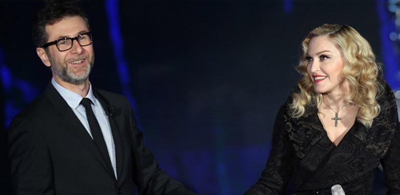 Premières photos officielles de Madonna dans l'émission Che Tempo Che Fa