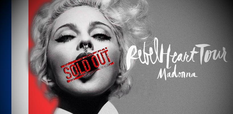 Le concert Rebel Heart Tour de Madonna à Bercy complet en cinq minutes
