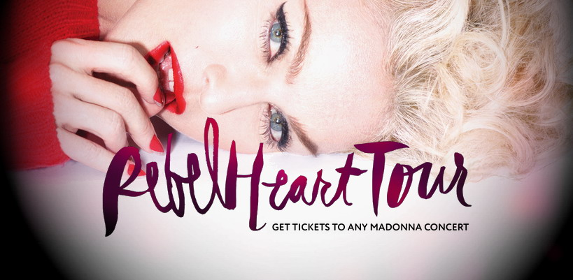 Achetez vos billets pour le Rebel Heart Tour de Madonna !