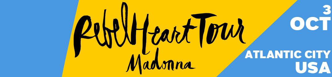 Rebel Heart Tour Atlantic City 3 octobre 2015