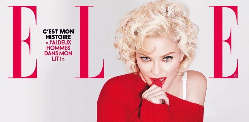 Madonna en couverture du mlagazine ELLE France [numéro du 31 décembre 2015]