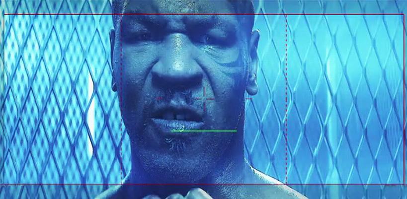 La projection Backdrop de Mike Tyson pour «ICONIC» durant le Rebel Heart Tour