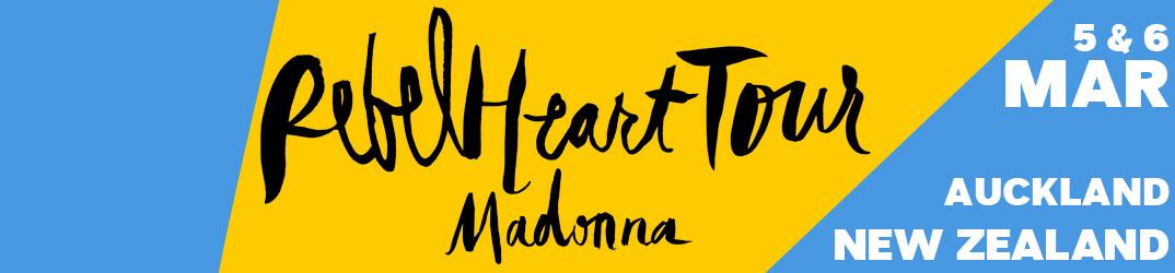 Rebel Heart Tour Auckland 5 & 6 mars 2016