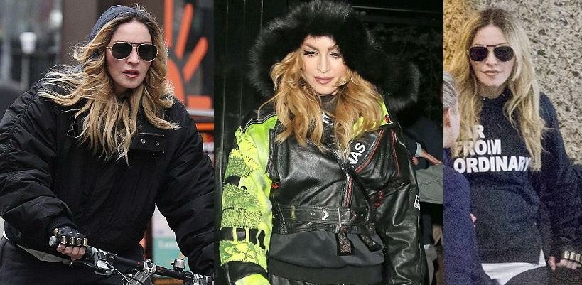 Madonna dans les rues de Londres [17 & 18 avril 2016 – Photos]