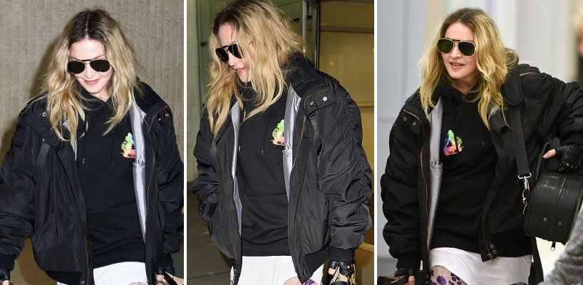 Madonna repérée à l'aéroport JFK de New York [20 avril 2016 - Photos]