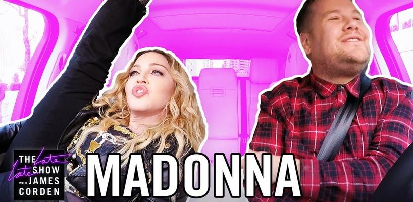 Le Carpool Karaoke de Madonna avec James Corden [Vidéo intégrale]