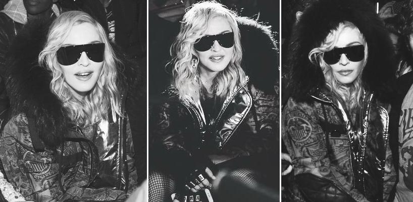 Madonna au défilé Philipp Plein à New York [13 février 2017]