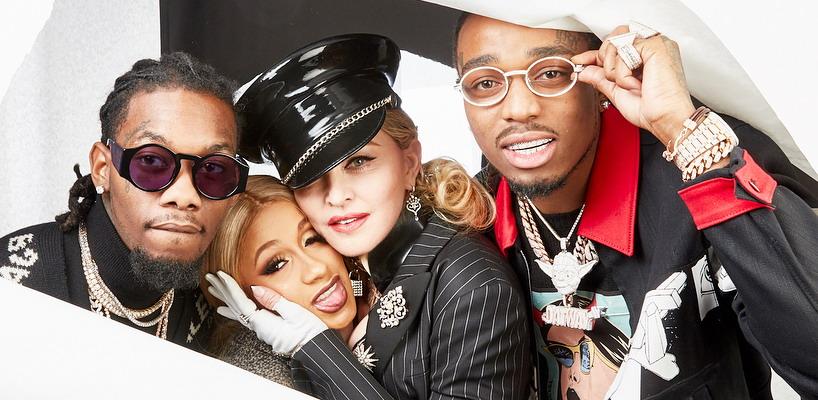 Madonna collabore avec Quavo et Cardi B sur le titre 'Champagne Rosé'