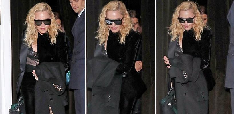 Madonna dans les rues de Londres [29 novembre 2018]