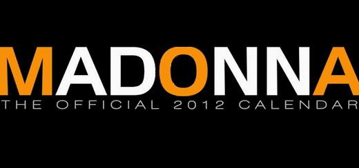 La couverture officielle du calendrier 2012 de Madonna