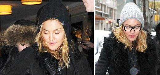 Madonna dans les rues de New York [20-21 janvier 2012]