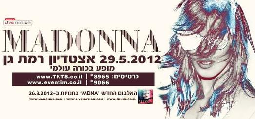 Madonna World Tour 2012 – Les détails sur la scène