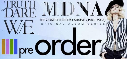 Les pré-commandes Madonna : CD, DVD, Blu-Rays et Boites collectors