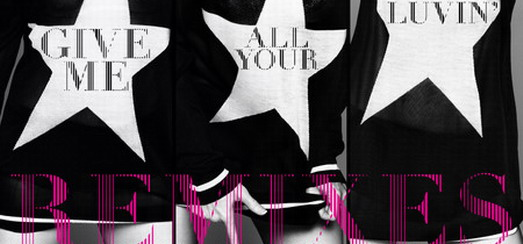 Les Remixes de « Give me all your Luvin' » Disponible sur iTunes