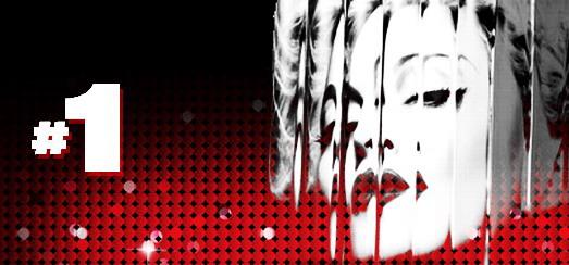 Madonna au sommet des charts anglais, australien, brésilien, etc.