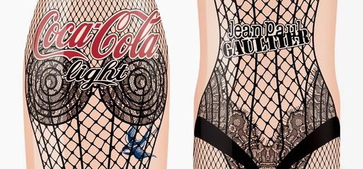 Un regard de plus près à la bouteille de Coca Cola Light inspirée de Madonna créée par Jean Paul Gaultier