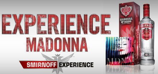 Smirnoff et Madonna sortent un pack Smirnoff Limited Edition