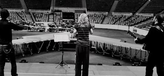 Premier jour de production des répétitions du MDNA World Tour
