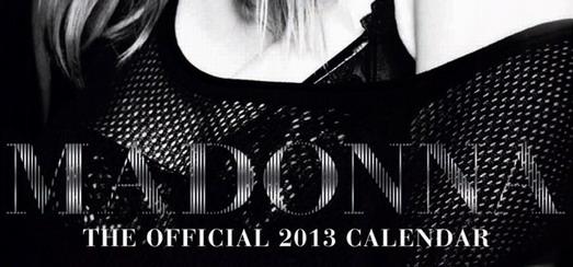 La couverture officielle du calendrier 2013 de Madonna