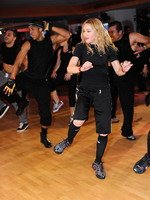Madonna during the exclusive dance class at the Hard Candy Fitness center, Mexico 01