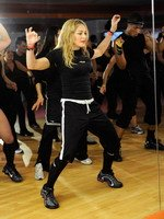 Madonna during the exclusive dance class at the Hard Candy Fitness center, Mexico 07