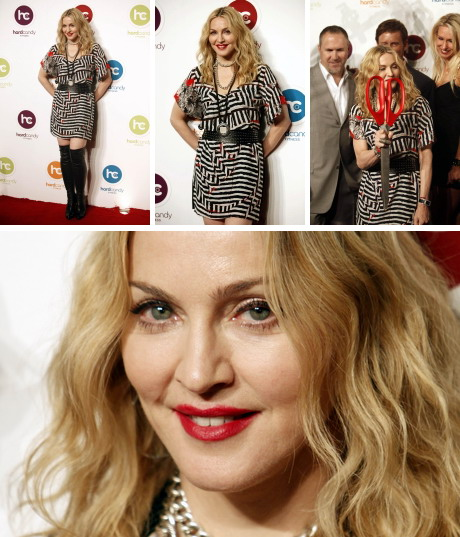 Madonna at the opening of the first Hard Candy Fitness Center, Mexico