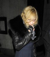 Madonna and Brahim Zaibat leaving the Wolseley Restaurant, London 01