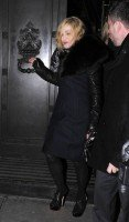 Madonna and Brahim Zaibat leaving the Wolseley Restaurant, London 09