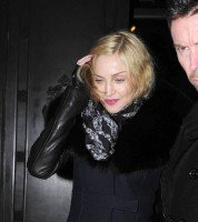 Madonna and Brahim Zaibat leaving the Wolseley Restaurant, London 10
