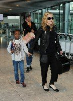 Madonna arrives at Heathrow airport, London (4)