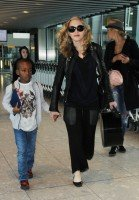 Madonna arrives at Heathrow airport, London (5)