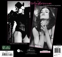 Madonna Official 2012 Calendar - Back