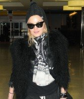 Madonn at JFK airport, New York - 23 December 2011 (1)