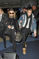 Madonna and Lourdes at JFK airport, 21 February 2012 - Update 3 (15)