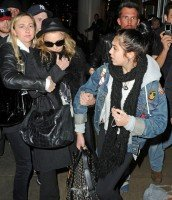 Madonna and Lourdes at JFK airport, 21 February 2012 - Update 3 (47)