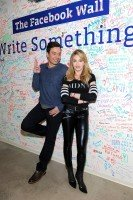 Madonna and Jimmy Fallon at the Facebook Wall in New York (1)