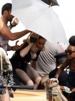 On the set of Turn up the Radio - Florence - Madonna (6)