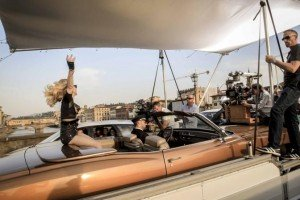 On the set of Turn up the Radio - Madonna - Florence - 19 June 2012 (2)