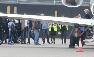 Madonna at the Luton Airport, London - 23 June 2012 (3)