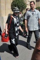 Madonna leaving the Crillon Hotel on her way to the Olympia, Paris (2)