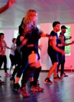 Madonna giving Addicted to Sweat dance class in Moscow (5)