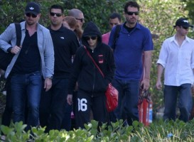 2 December 2012 - Madonna Leaving for the Parque Olimpico Cidade do Rock by Helicopter, Lagao (1)
