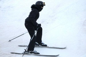Madonna skiing in Gstaad, Switzerland (2)