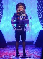 Madonna dressed up as boy scout at the GLAAD Media Awards - Anderson Cooper - Backstage - HQ (31)