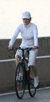 Madonna out and about on bike, south of France - 11 August 2013 (2)