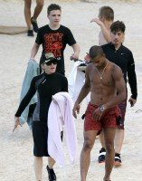 Madonna at the beach in Villefranche, France - 14 August 2013 (11)