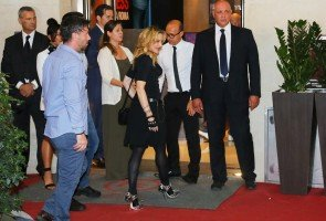 Madonna at the Hard Candy Fitness Centre, Rome - 21 August 2013 (1)